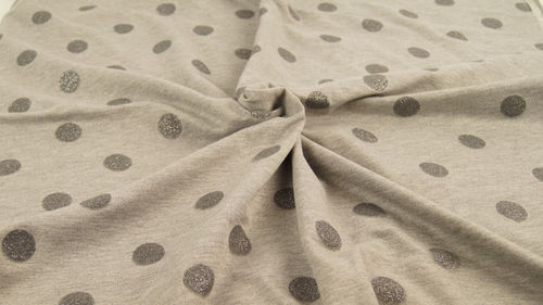 Sweatshirstoff French Terry Glitzer Dots Hellgrau