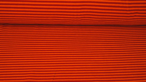 Nicki Velour Streifen Orange-Rot