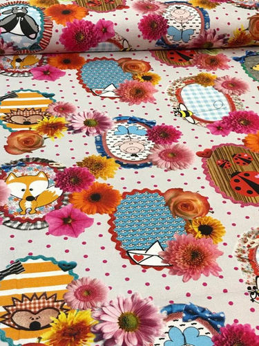 Dekostoff Baumwollcanvas Cherry Picking Fabric Fever