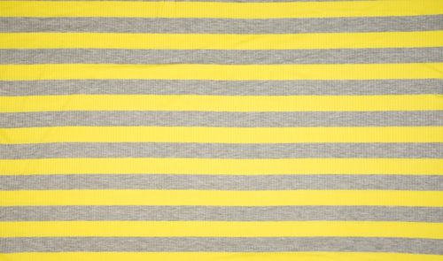 Viskosejersey Rib Stripes Sunshine Yellow