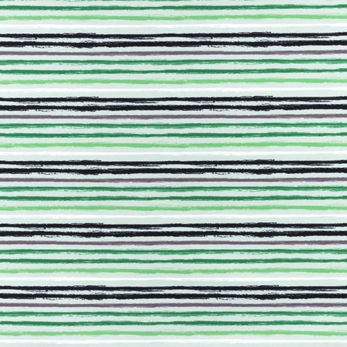 Baumwolljersey Green Stripes