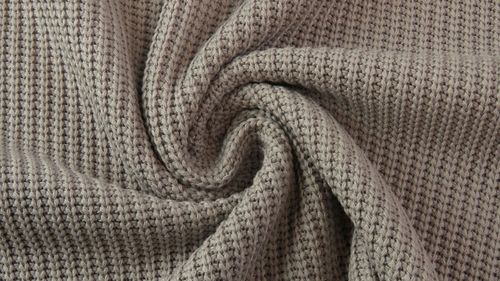 Strickstoff Baumwolle Big Knit Taupe