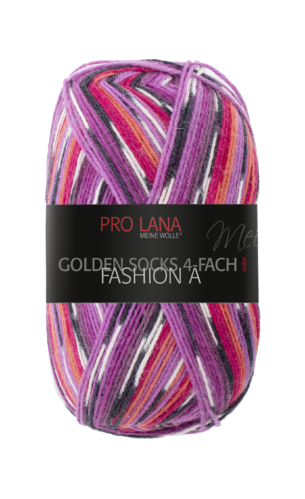 Sockenwolle Pro Lana Fashion A Nr.415 Lila-Orange