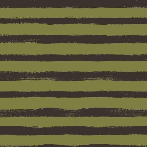 Sommersweat French Terry Paint Stripes Olive