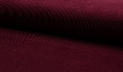 Baumwoll Stretch Cord Bordeaux