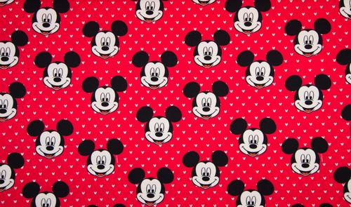 Sommersweat French Terry Disney Mickey Mouse