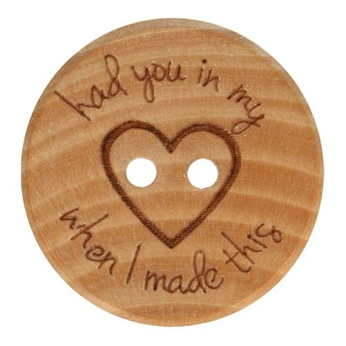 Holzknopf had you in my heart 40mm