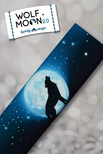 French Terry Panel Wolf Moon 2.0 Blau